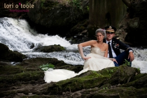 Bride and groom trash the dress session in Poughkeepsie, NY - Photo by Lori O'Toole